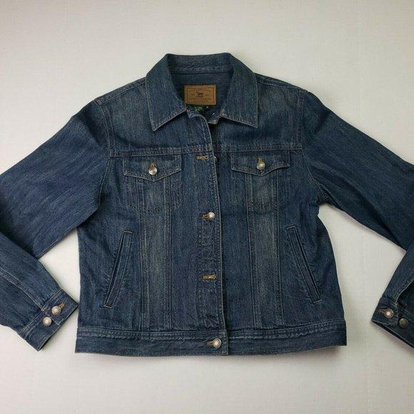 Lauren Jean Ralph denim jacket coat M
